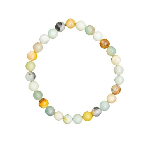 Multicoloured Amazonite Bracelet - 6 mm Bead