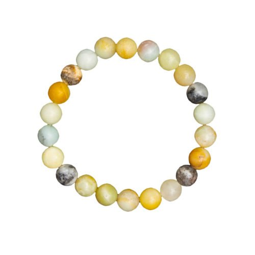 Multicoloured Amazonite Bracelet - 8 mm Bead