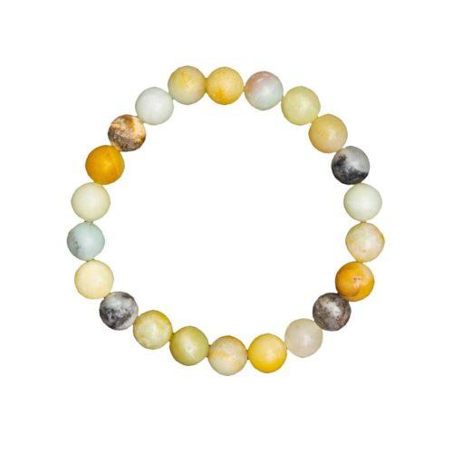 Multicoloured Amazonite Bracelet - 8 mm Bead