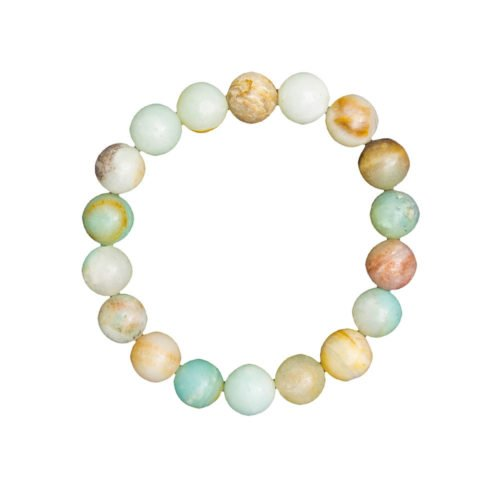 Multicoloured Amazonite Bracelet - 10 mm Bead
