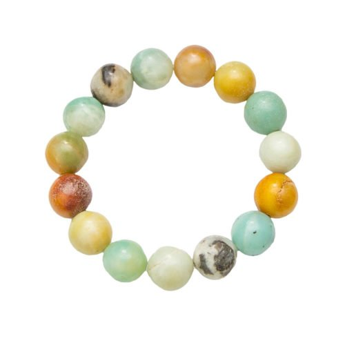 Multicoloured Amazonite Bracelet - 12 mm Bead