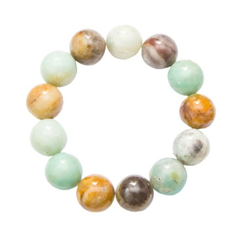 Multicoloured Amazonite Bracelet - 14 mm Bead