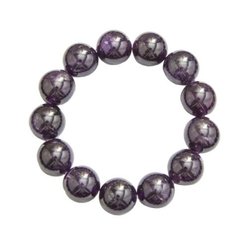 Amethyst Bracelet - 14 mm Bead
