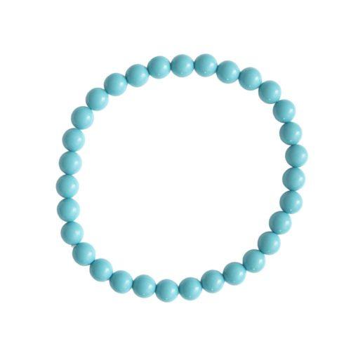 Blue Howlite Bracelet - 6 mm Bead