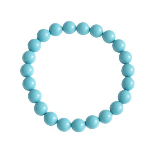 Blue Howlite Bracelet - 8 mm Bead