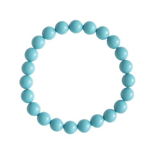 Blue Howlite Bracelet - 8 mm Bead