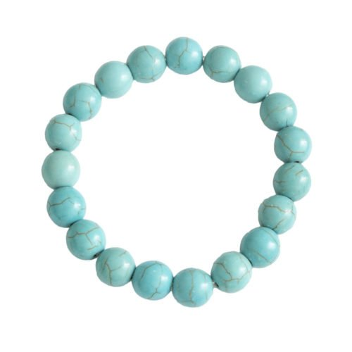 Blue Howlite Bracelet - 10 mm Bead