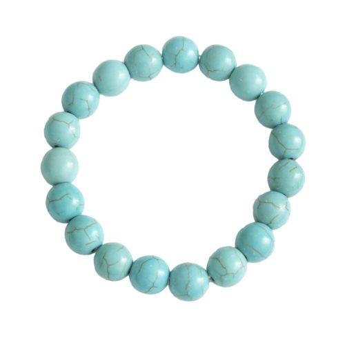 Blue Howlite Bracelet - 10 mm Bead
