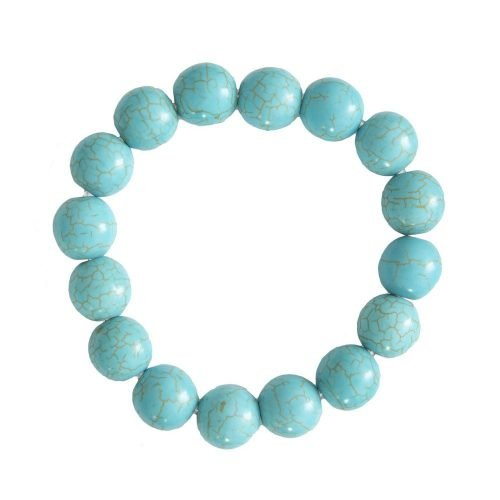 Blue Howlite Bracelet - 12 mm Bead