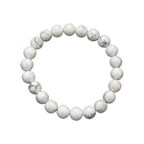 Howlite Bracelet - 8 mm Bead