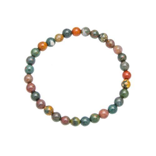 bracelet jaspe héliotrope pierres boules 6mm
