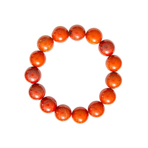 Red Jasper Bracelet - 12 mm Bead
