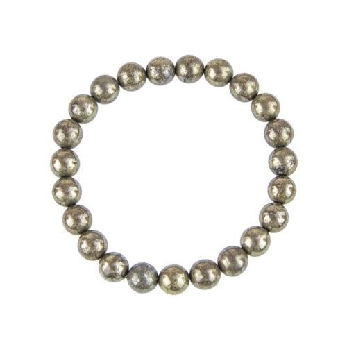 Iron Pyrite Bracelet - 8 mm Bead