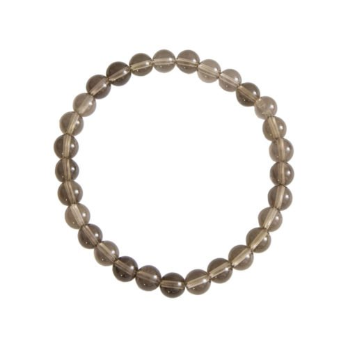 Smoky Quartz Bracelet - 6 mm Bead