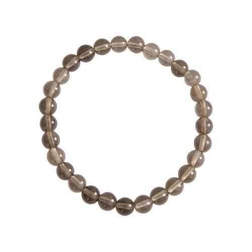 Smoky Quartz Bracelet - 6 mm Bead