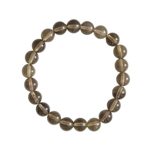 Smoky Quartz Bracelet - 8 mm Bead