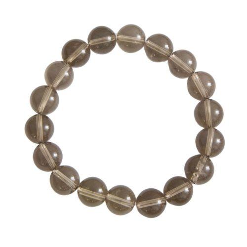 Smoky Quartz Bracelet - 10 mm Bead