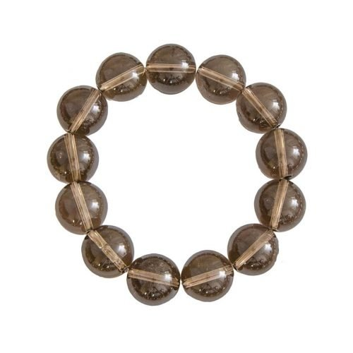 Smoky Quartz Bracelet - 14 mm Bead
