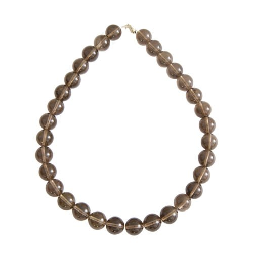 Smoky Quartz Necklace - 14 mm Bead