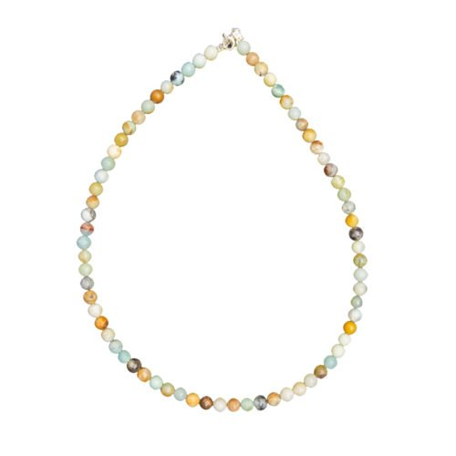 Multicoloured Amazonite Necklace - 6 mm Bead