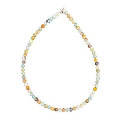 Multicoloured Amazonite Necklace - 6 mm Bead