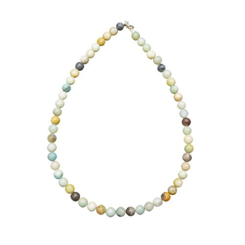 Multicoloured Amazonite Necklace - 8 mm Bead