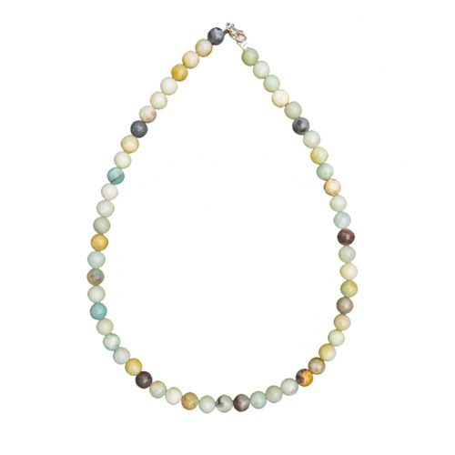 Multicoloured Amazonite Necklace - 8 mm Bead