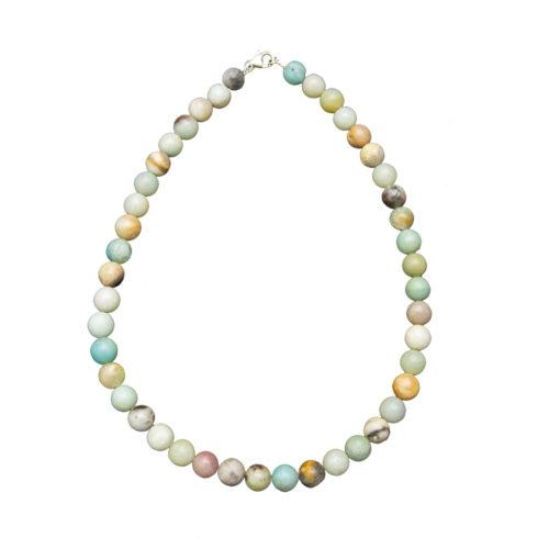 Multicoloured Amazonite Necklace - 10 mm Bead