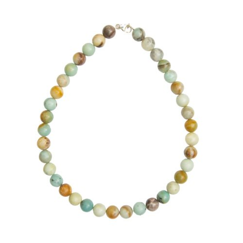 Multicoloured Amazonite Necklace - 12 mm Bead