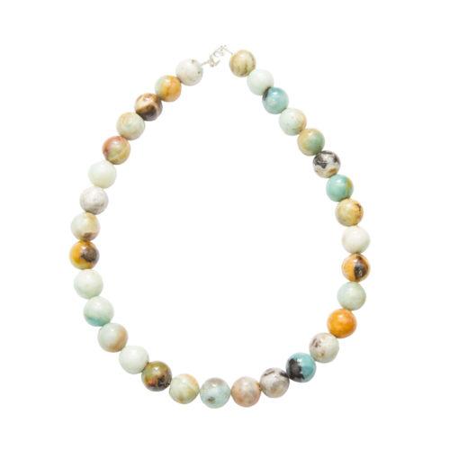 Multicoloured Amazonite Necklace - 14 mm Bead