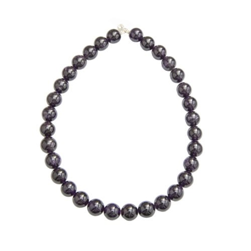 Amethyst Necklace - 14 mm Bead