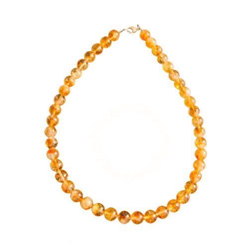 Citrine Necklace - 10 mm Bead