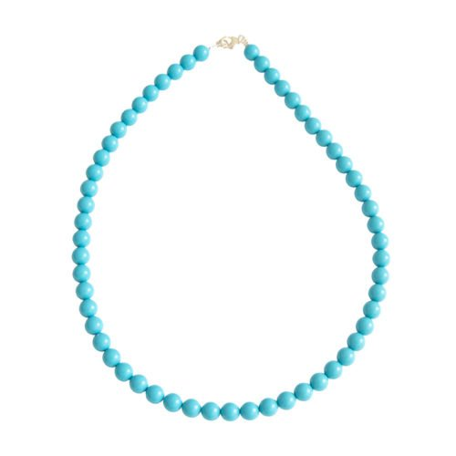 Blue Howlite Necklace - 8 mm Bead