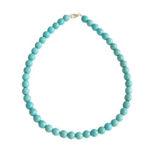 Blue Howlite Necklace - 10 mm Bead