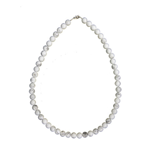 Howlite Necklace - 8 mm Bead