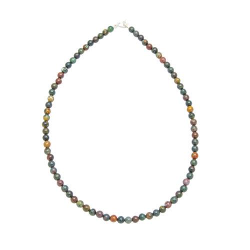 collier jaspe héliotrope pierres boules 6mm