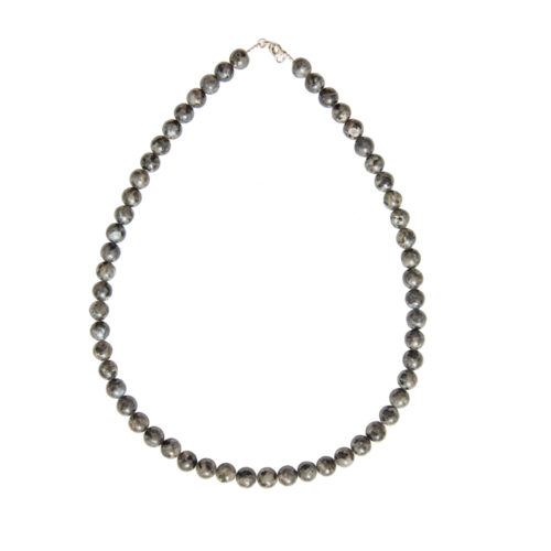 Labradorite Necklace with Inclusions - 8 mm Bead