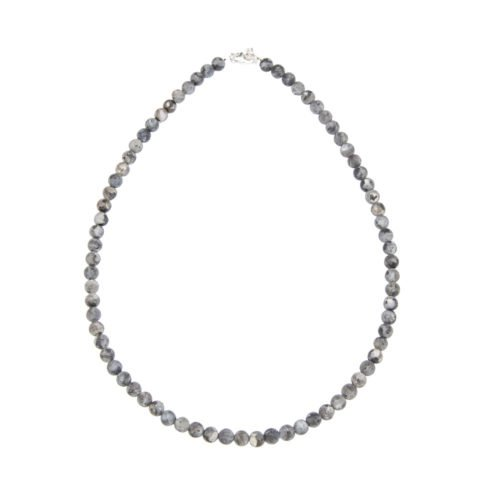 Larvikite Necklace - 6 mm Bead