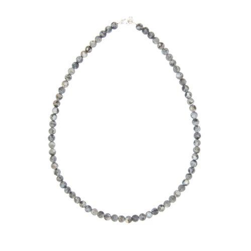 Larvikite Necklace - 6 mm Bead