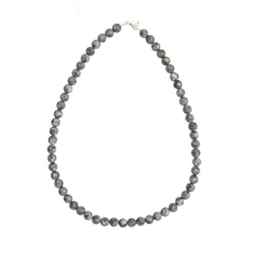 Larvikite Necklace - 8 mm Bead