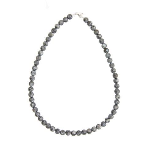 Larvikite Necklace - 8 mm Bead