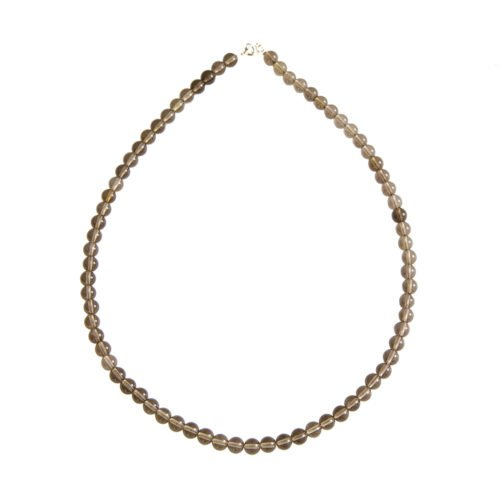 Smoky Quartz Necklace - 6 mm Bead