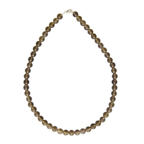 Smoky Quartz Necklace - 8 mm Bead