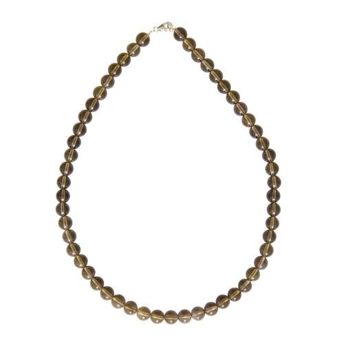 Smoky Quartz Necklace - 8 mm Bead