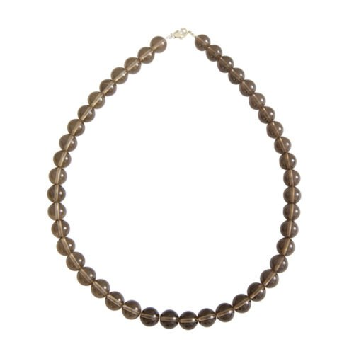 Smoky Quartz Necklace - 10 mm Bead