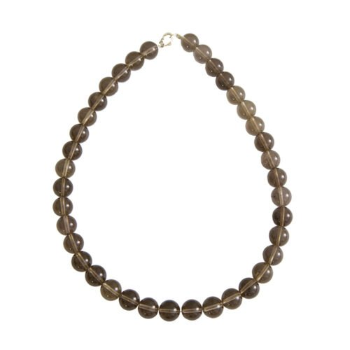 Smoky Quartz Necklace - 12 mm Bead