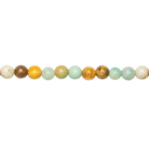 Multicoloured Amazonite Line - 6 mm Bead