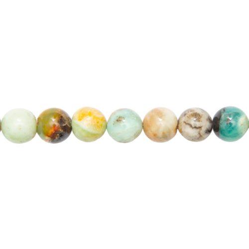 Multicoloured Amazonite Line - 14 mm Bead