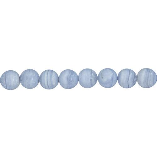 Chalcedony Line - 12 mm Bead