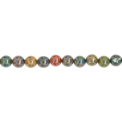 fil jaspe héliotrope pierres boules 8mm